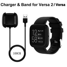 Wristband Band Strap & Charging Cable Charger For Fitbit Versa 2 / Versa Watch