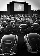 1948 Vintage Drive-In Movie Theater PHOTO San Fran California Cars Screen