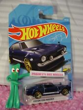 CUSTOM FORD MAVERICK #219✰blue;gold 10sp✰2018 i Hot Wheels WW case K/L✰Sung Kang