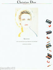 PUBLICITE ADVERTISING  016  1981  DIOR  maquillage Les Scarabées