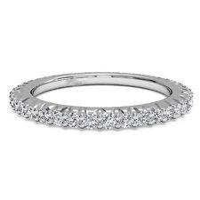 Round Cut 0.60 Ct Diamond Engagement Mens Band 14K White Gold Size 5 6 7 8 9