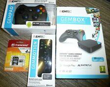 EMTEC GEMBOX ANDROID GAMING CONSOLE NEW Bundle 16GB 2 x Controller Motion Remote