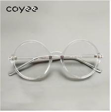 Round CRYSTAL CLEAR Glasses Frame Plastic Eyeglasses Unisex Transparent Eyewear