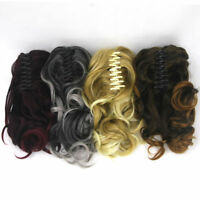 Claw Thick Wavy Curly Long Layered Ponytail Clip In On Hair Extension LN8C