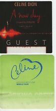 Celine Dion 2 Backstage Passes - A New Day* Let's Talk About Love