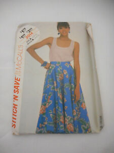Vintage McCall's Skirt top sewing Pattern 2014 Sz 6/8/10 from 1980s