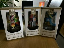 More details for  3 san miguel 130 years  limited edition pint glasses + 4 beermats