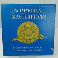 25 Immortal Masterpieces LP Record Album Vinyl