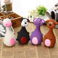 Animal Shape Pet Puppy Dog Latex Chew Bite Squeaker Squeaky Sound Toy Funny Gift
