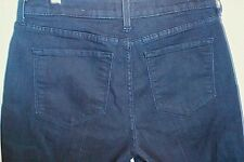 """NYDJ Not Your Daughters Jeans Lift Tuck Trouser Dark Wash Skinny Size 6 30""""x28"""""""