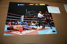 JAMES TONEY AUTOGRAPHED SIGNED  BOXING 8X10 PHOTO LEAF CERTIFIED