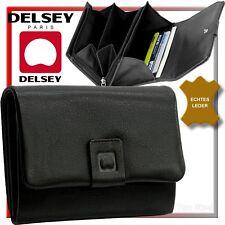 DELSEY Damen Geldbörse Feminin Geldbeutel Portemonnaie Geldtasche weiches Leder
