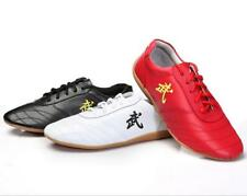Soft Cow Leather《 武 》Kung fu Tai chi Shoes Martial arts Wushu Sports Sneakers