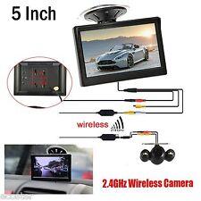 "5"" HD Monitor for Car Suv+Wireless IR Night Vision Rear View Back up Camera Kit"