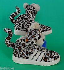 NEW~Adidas JEREMY SCOTT LEOPARD 1 Sneaker Stuffed wings teddy Shoe~TODDLER sz 9K