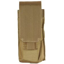 Bulle Tan MOLLE Webbing Tactical Single Rifle Mag Pouch Small Bottle Utility