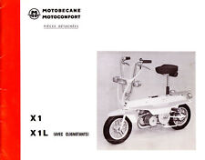 Mobylette Motobecane Moped Mobyx X1 - X1L Spare Parts Manual in French on CD