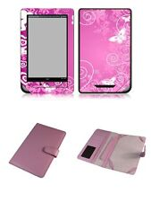 Happybird Nook Tablet Nook Color Case Cover with skin combo-pink A set4(N059)