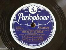 78rpm DUKE ELLINGTON drop me off at harlem / clarinet lament
