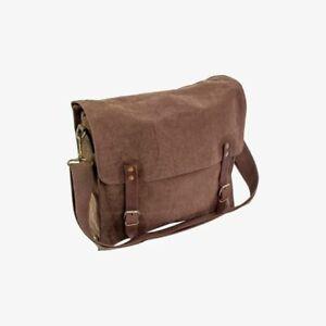 Fintry 10 litre Retro Army Messenger Style Webbing Canvas Satchel Shoulder Bag