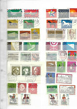 allemagne rfa lot timbres et bloc oblitérés 1969/1970