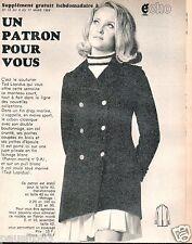 Patron de couture Echo de la mode  manteau Ted Lapidus