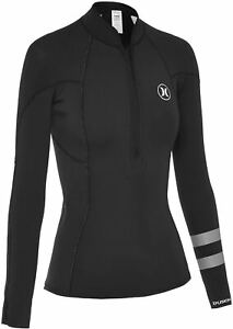 Hurley Women's Fusion 2mm Surf Wetsuit Jacket - Black (Size 6)