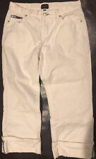 Womens Tommy Hilfiger Capri Cuffed Jeans Crisp White Size 9 Excellent Condition