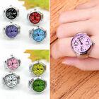 Funny Creative Steel Round Elastic Quartz Finger Ring Watch Lady Girl Gift