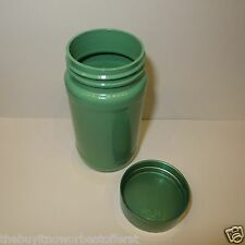 UPCYCLE - Craft Supply (1) Mint Green Pearl Peralized Bottle Jar Container & Lid