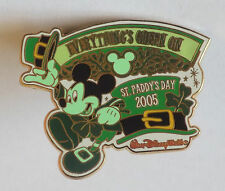 DISNEY Everything Green Collection Pin Badge - Mickey Mouse St Paddys Day 2005