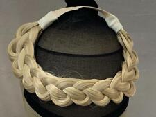 New High Quality Elasticated Synthetic straight Loose Braided Headband Hairpiece