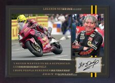 Joey Dunlop Honda TT signé dédicacé Motor Sport Memorabilia encadrée Photo