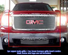 For 2007-2012 GMC Sierra 1500 Billet Grille Grill Combo Insert