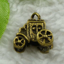 Free Ship 100 pieces bronze plated car charms 11x11mm #862