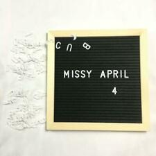 1*White Letter Board, Message Board with Felt & characters Quote Board 2020