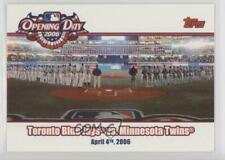 2006 Topps Opening Day Toronto Blue Jays vs Minnesota Twins #OD-JT