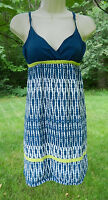 AEROPOSTALE XS Strappy Sundress Blue White Polka Dot with Green at Empire Waist