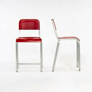 2010s Emeco 1951 Red Counter Stool by Adrian van Hooydonk and BMW Designworks