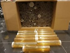 Button Tubes Storage Clear - Huge Job Lot of 107 Tubes - Mixed Sizes *Free P&P*