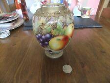 More details for royal worcester fine bone china  painted fruit vase