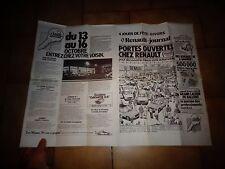 Ancien RENAULT JOURNAL Publicitaire Voiture R5 R14 R15 R17 R18 R20 Rodeo 1979