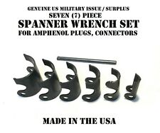 Amphenol Plug Connector Spanner Wrench Set 6 Wrenches Us Military Tool Kit Nos