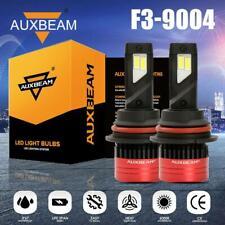 AUXBEAM 9004 HB1 LED Headlights Bulbs 80W Super Bright HID HI-LO Beam 6500K F3