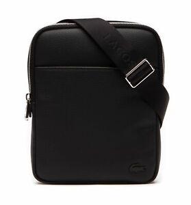 LACOSTE Gael S Flat Crossover Bag Umhängetasche Tasche Black Schwarz Neu