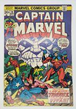 CAPTAIN MARVEL # 28 JIM STARLIN EARLY THANOS DRAX WANDA VISION AVENGERS 1973 NR