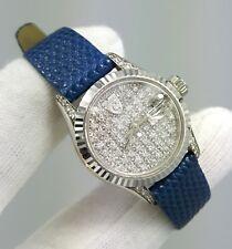 18K Gold Ladies Diamond Watch Croton Diamond watch 3 ct Stunning luxury piece