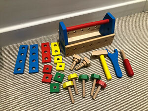 Melissa & Doug Take-Along Tool Kit Wooden Construction Toy Set