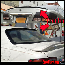 COMBO Spoilers (Fits: Mazda Millenia 1995-02) Rear Roof Wing & Trunk Lip