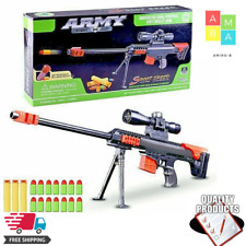NEW Barrett Nerf Strike Dart Blaster Elite Toy Pneumatic Gun Vulcan Recon Fire